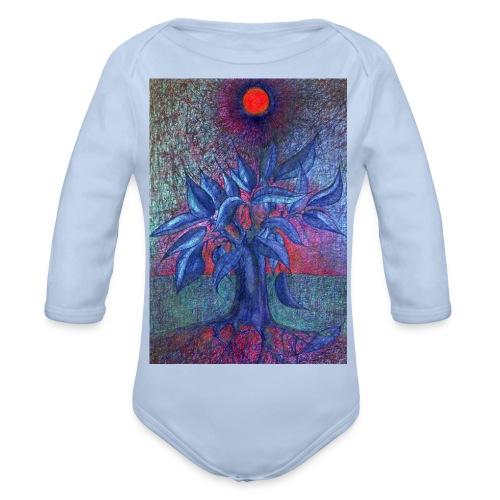 DrzewoKwiat - Ekologiczne body niemowlęce z długim rękawem