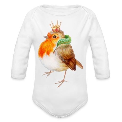 Koninklijk Roodborstje - Organic Longsleeve Baby Bodysuit