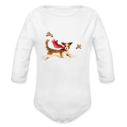 Suza met sneeuwvlokken - Organic Longsleeve Baby Bodysuit