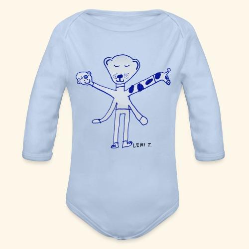 LeniT Teddy With a Twist - Vauvan pitkähihainen luomu-body