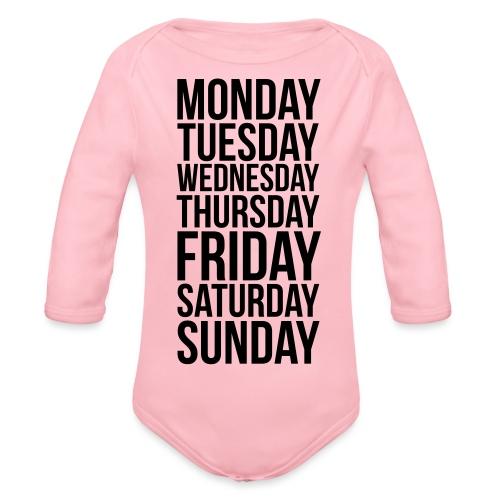 Days of the Week - Organic Longsleeve Baby Bodysuit