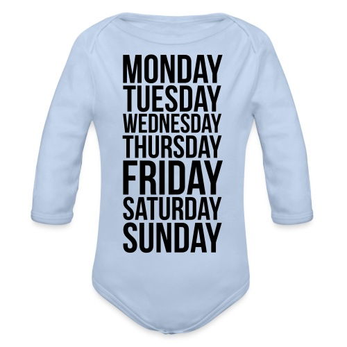 Days of the Week - Organic Longsleeve Baby Bodysuit
