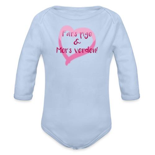 Far s Pige Mor s Verden - Langærmet babybody, økologisk bomuld