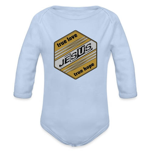 jesus 6eck - Baby Bio-Langarm-Body