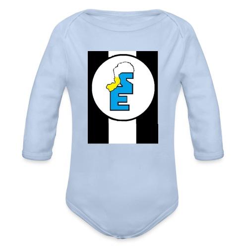 SmurfEline - Baby bio-rompertje met lange mouwen