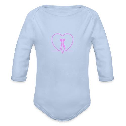 Amarsi un pò ... PINK - Body ecologico per neonato a manica lunga