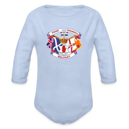 Pride of Shankill - Organic Longsleeve Baby Bodysuit