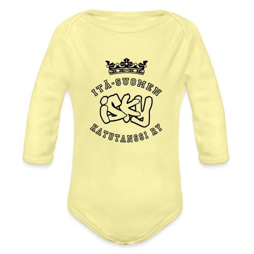 ISKY-logo - Vauvan pitkähihainen luomu-body