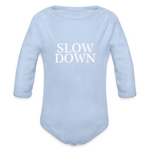 SLOW DOWN - Body orgánico de manga larga para bebé