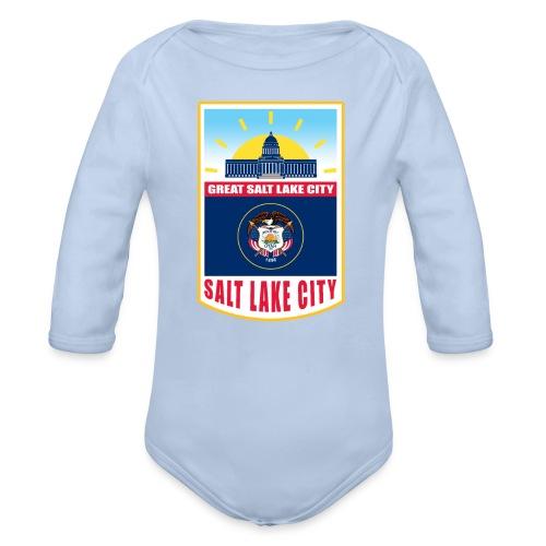 Utah - Salt Lake City - Organic Longsleeve Baby Bodysuit
