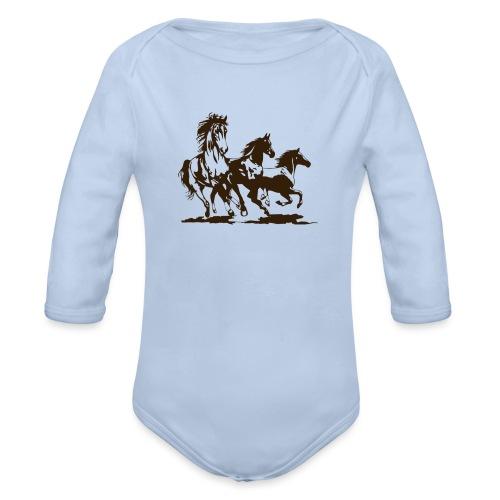 Horse - Organic Longsleeve Baby Bodysuit
