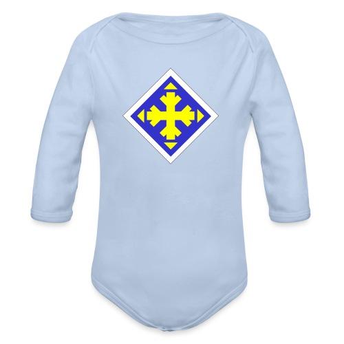 Mäksäreppu, vaalean sininen - Vauvan pitkähihainen luomu-body