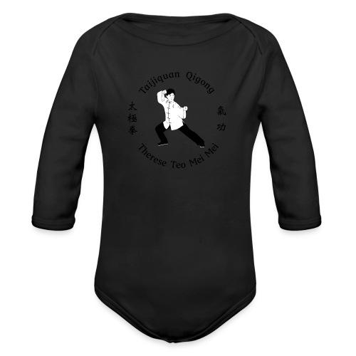 Teo Mei Mei Black Logo - Ekologisk långärmad babybody