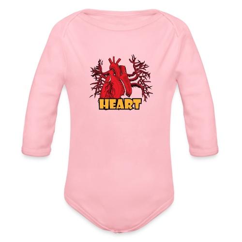 HEART - Body ecologico per neonato a manica lunga