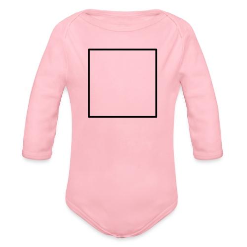 Square t shirt black - Baby bio-rompertje met lange mouwen