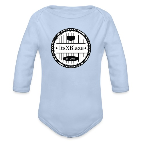 ItsXBlaze Logo 3 White V-Neck Option 1 - Baby bio-rompertje met lange mouwen