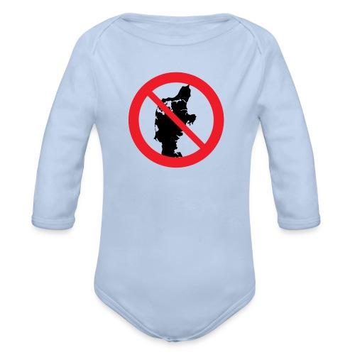 Badge - Jylland forbudt - Langærmet babybody, økologisk bomuld