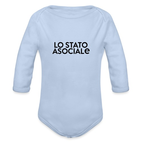 T-Shirt Logo Bianca - Body ecologico per neonato a manica lunga