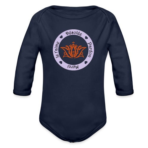 Tee shirt Bio Femme Ho oponopono - Organic Longsleeve Baby Bodysuit