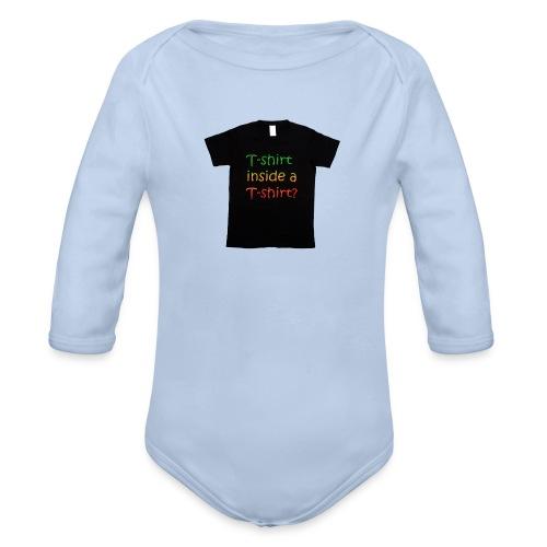 mars-one-drawing-tshirt-black - Langærmet babybody, økologisk bomuld