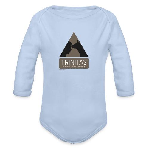 Trinitas forklæde - Langærmet babybody, økologisk bomuld