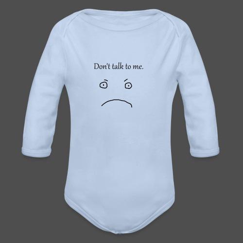 Don-t_talk_to_me - Langærmet babybody, økologisk bomuld