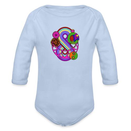 Colour Love Mandala - Organic Longsleeve Baby Bodysuit