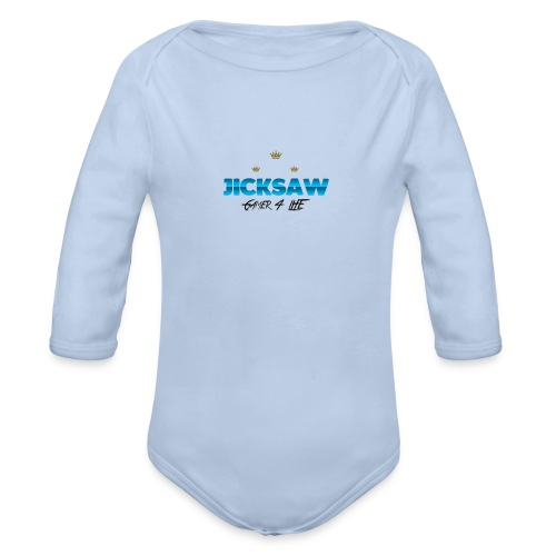 Jicksaw Hoodie - Baby Bio-Langarm-Body