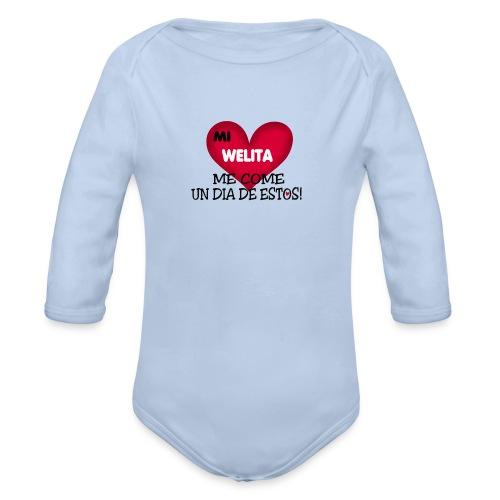 MI_WELITA_ME_COME_UN_DIA_DESTOs - Body orgánico de manga larga para bebé