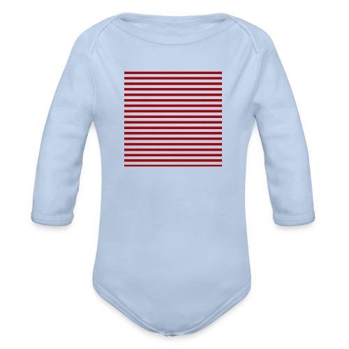 lineas_rojas - Body orgánico de manga larga para bebé