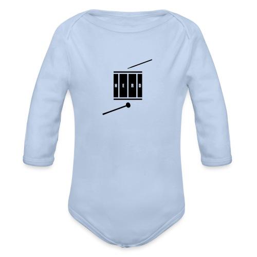 Nerd_Logo Black - Langærmet babybody, økologisk bomuld