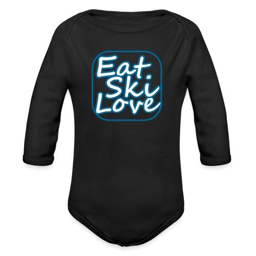 eat ski love - Baby bio-rompertje met lange mouwen