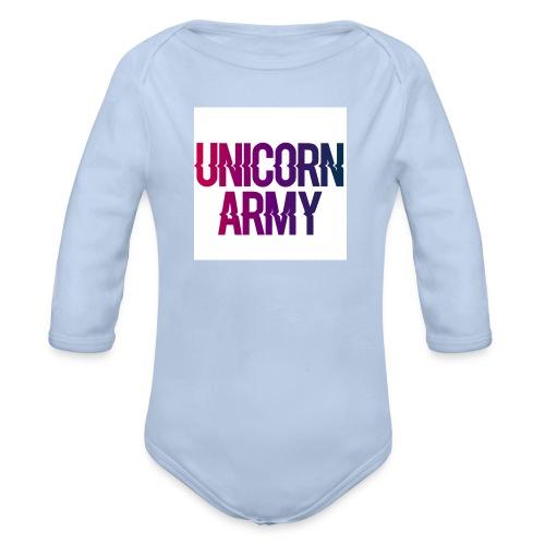 UnicornArmyLogo - Baby Bio-Langarm-Body