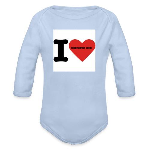 i-love - Baby Bio-Langarm-Body