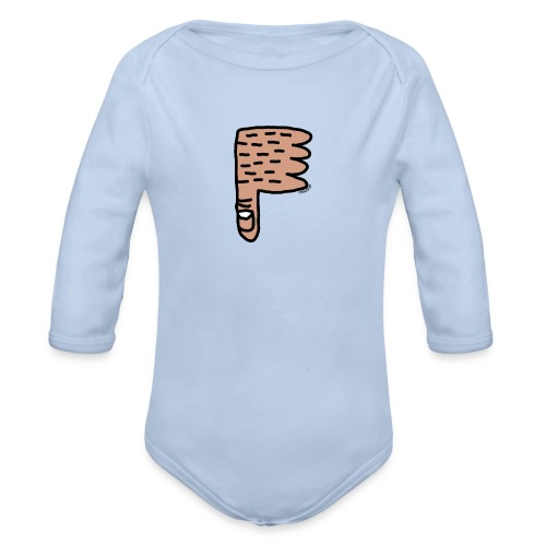Thumb Down by Cheslo - Baby Bio-Langarm-Body