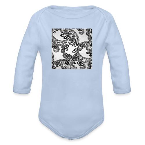 tribal print hat - Organic Longsleeve Baby Bodysuit