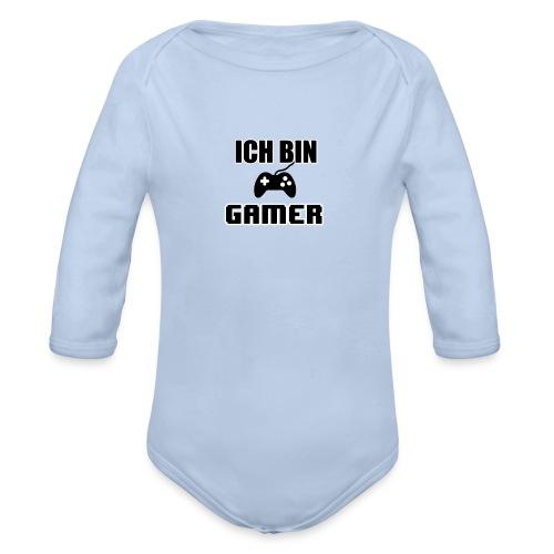 Ich bin Gamer Case - Baby Bio-Langarm-Body