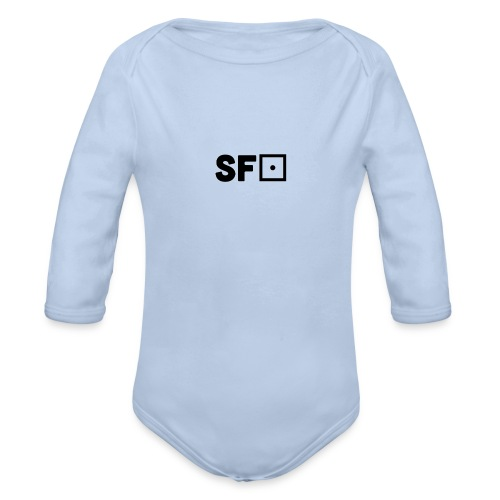 Square Featured Clothing - Organic Longsleeve Baby Bodysuit