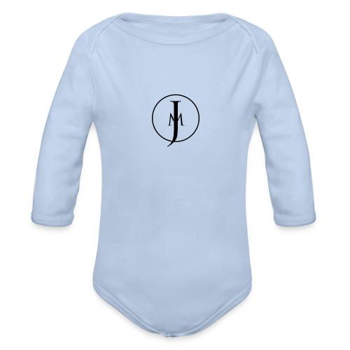 JM Designs Black on White - Organic Longsleeve Baby Bodysuit