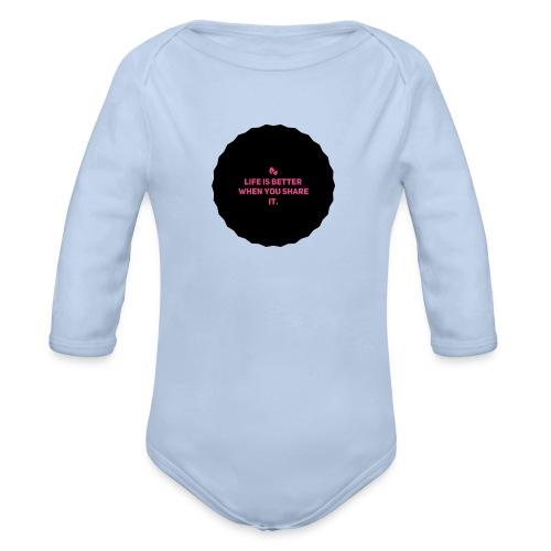 Life is better - Økologisk langermet baby-body