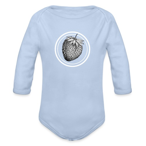 Strawberry - Organic Longsleeve Baby Bodysuit