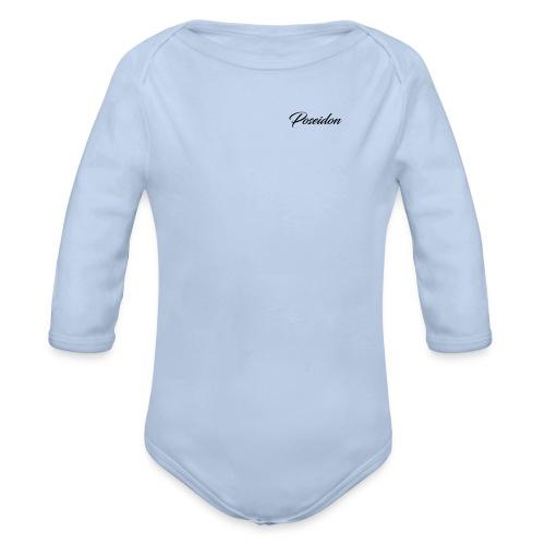 Poseidon Simple Logo - Organic Longsleeve Baby Bodysuit