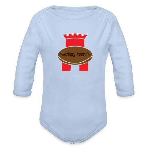 Fan logo Voorburgse Rugbyclub - Baby bio-rompertje met lange mouwen