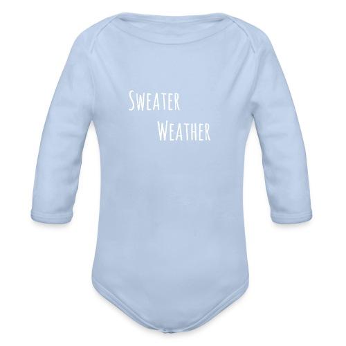 sweaterwea therwhite - Baby Bio-Langarm-Body