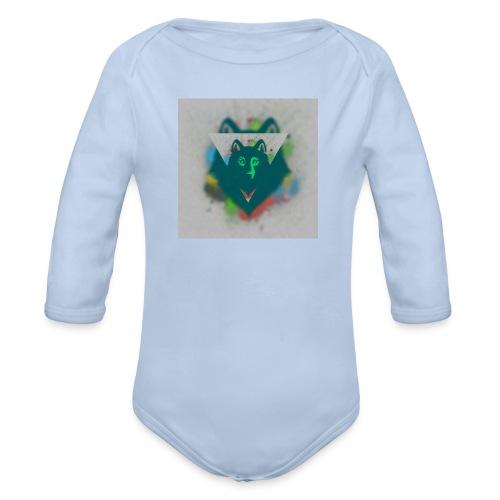DREIECK COLOR WOLF - Baby Bio-Langarm-Body