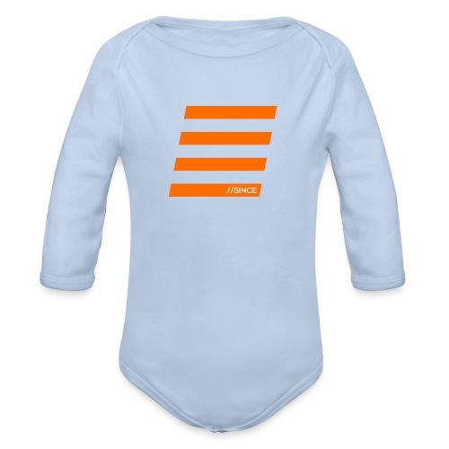 Orange Bars - Baby Bio-Langarm-Body