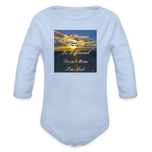 Just because my path - Organic Longsleeve Baby Bodysuit