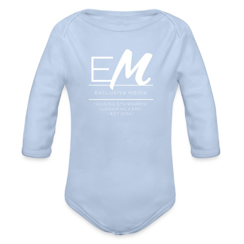 Raising standards lowering cars - Organic Longsleeve Baby Bodysuit