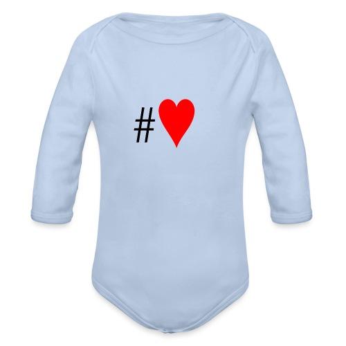 Hashtag Heart - Organic Longsleeve Baby Bodysuit