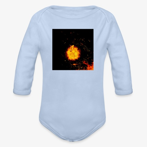 FIRE BEAST - Baby bio-rompertje met lange mouwen
